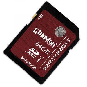 金士顿(Kingston)64GB90MB/sSDClass10UHS-I高速存储卡中国红