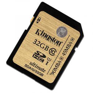金士顿(Kingston)32GUHS-IClass10SD高速卡读90M/s土豪金