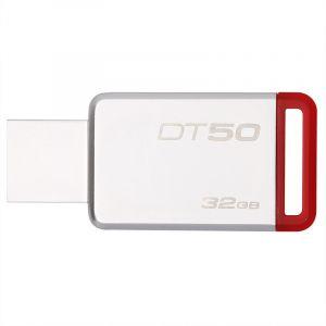 金士顿(Kingston)USB3.132GB金属U盘DT50高速车载U盘红色