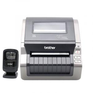 兄弟条码机热敏不干胶条码打印机QL-1050+二维码扫描平台DS9208