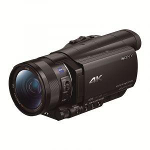 索尼(SONY)FDR-AX100E4K高清数码摄像机配64UX存储卡(1英寸CMOS光学防抖12倍光学变焦蔡司镜头支持WIFI/NFC传输)