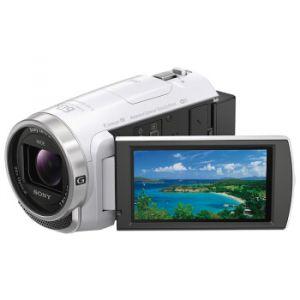 索尼(SONY)HDR-CX680 高清数码摄像机 5轴防抖 30倍光学变焦(白色)