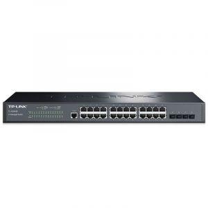 普联(TP-LINK) TP-LINK24口千兆三层网管交换机 4个光纤口企业级交换机网吧 24口千兆/三层网管/4光纤口