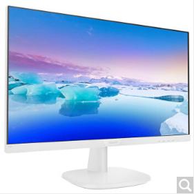 飞利浦 23.8英寸显示器 IPS技术广视角屏 滤蓝光不闪屏 液晶电脑显示屏幕 窄边框 可壁挂 23.8英寸 243V7QDSWA(白色)