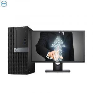 戴尔台式电脑 7060MT (i5-8500/8G/1T+120G SSD/DVDRW/R5  430 2G/DOS/24寸显示屏)