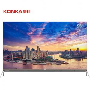 康佳(KONKA)LED55R1 55英寸4K超高清 变频技术HDR纯色硬屏平板电视 摩卡金